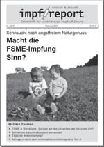 """impf-report"" Schwerpunktausgabe FSME"