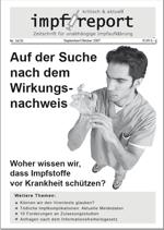 """Aktuelle Ausgabe der Zeitschrift """"impf-report"""""""