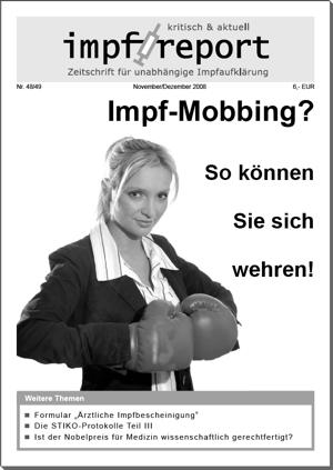 """Die Zeitschrift """"impf-report"""" über das Thema Impf-Mobbing"""